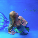neon yellow mermaid tail glow in the dark