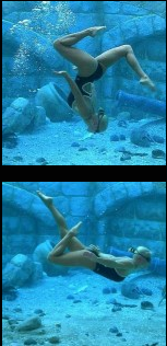 melissa dawn under water stunt model