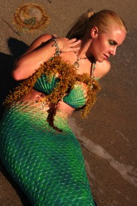 real mermaid melissa on beach
