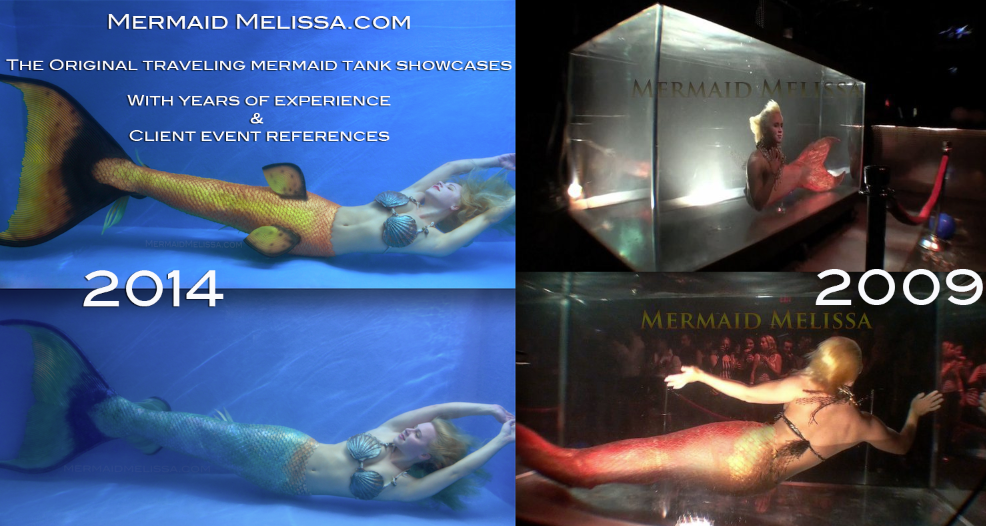 mermaid traveling aquariums portable rentable underwater shows