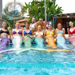 group mermaids pool tour bus