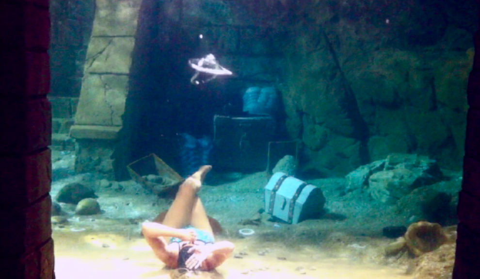 real underwater world. Wonderful World Original Underwater Tricks Bubble Ring Circles Take New Shapes By Free  Diver Mermaid Melissa At Sea World With Real Underwater A