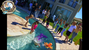 mermaid pool party and childrens birthday with mermaid melissa
