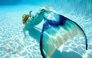 beautiful mermaid blue tail image picture underwater model
