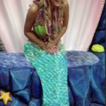 mermaid posing model meet
