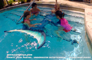 mermaid melissa resort pool lazy river professional underwater entertainer Orlando for hire