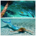 mermaid melissa clear blue water shadow swimming mermaiding