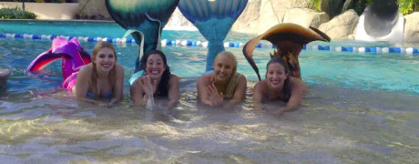 mermaids pool entertainment for hire