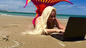 mermaid model mermaid melissa email computer surf web site beach