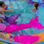 mermaid melissa pool party entertainer kids birthday performer resort pool pink neon tails